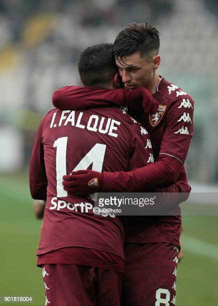 Iago Falque and Daniele Baselli during Serie A match between Torino v Bologna in Turin on January 6 2018