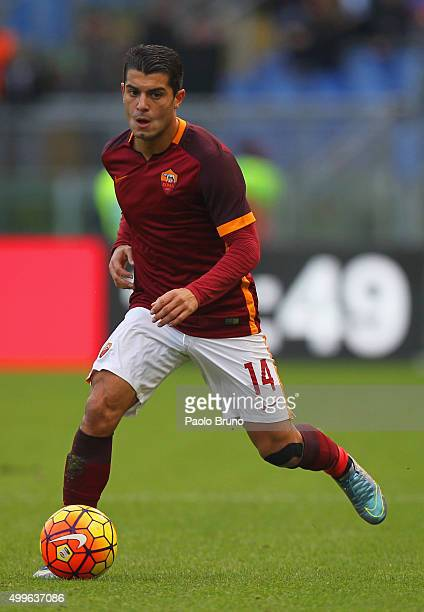 Iago Falque of AS Roma in action during the Serie A match between AS Roma and Atalanta BC at Stadio Olimpico on November 29 2015 in Rome Italy