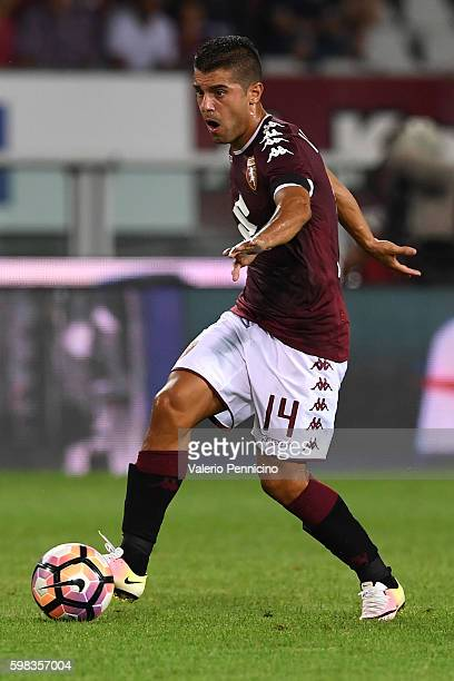 Iago Falque of FC Torino in action during the Serie A match between FC Torino and Bologna FC at Stadio Olimpico di Torino on August 28 2016 in Turin...