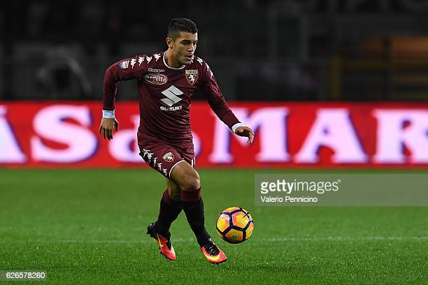 Iago Falque of FC Torino in action during the Serie A match between FC Torino and AC ChievoVerona at Stadio Olimpico di Torino on November 26 2016 in...