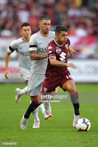Player of AS Roma before the Serie A football match between Torino FC and AS Roma at Olympic Grande Torino Stadium on august 19 2018 in Turin Italy...