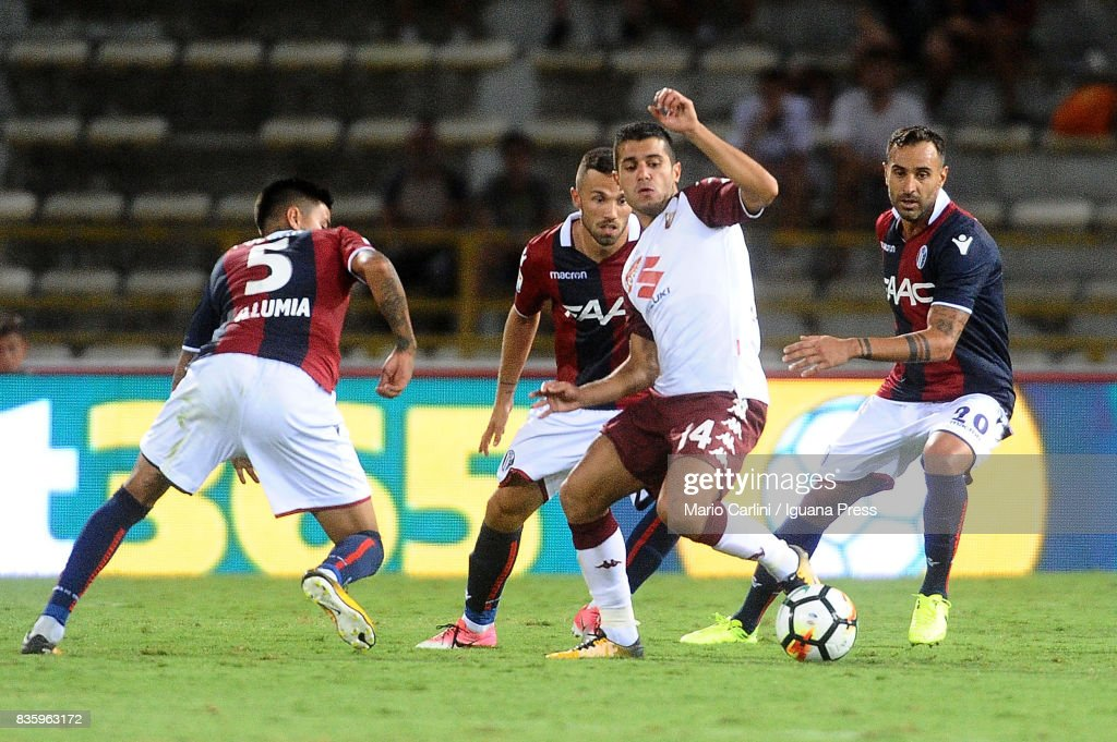 Iago Falque # 14 of Torino FC in action during the Serie A match between Bologna FC and Torino FC at Stadio Renato Dall'Ara on August 20, 2017 in Bologna, Italy.