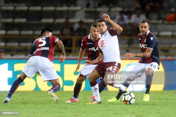 Iago Falque of Torino FC in action during the Serie A match between Bologna FC and Torino FC at Stadio Renato Dall'Ara on August 20 2017 in Bologna...