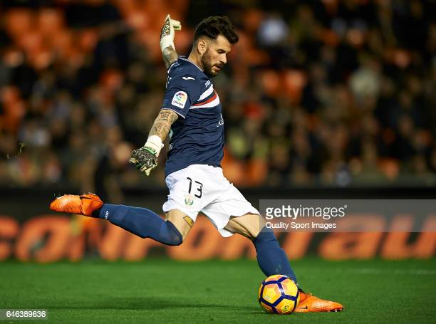Iago Herrerin of Leganes in action during the La Liga match between Valencia CF and CD Leganes at Mestalla Stadium on February 28 2017 in Valencia...