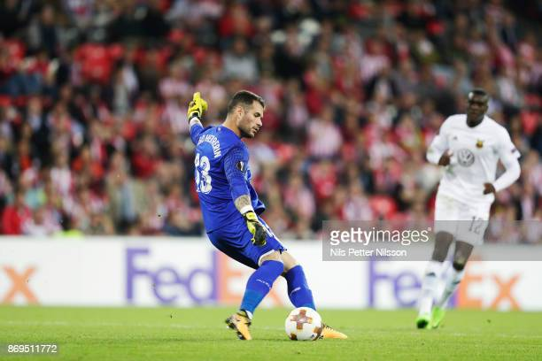 Iago Herrerín goalkeeper of Athletic Bilbao during the UEFA Europa League group J match between Athletic Bilbao and Ostersunds FK at Estadio San...