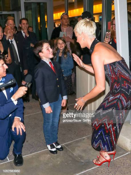 Iain Armitage and Katy Perry are seen on October 19 2018 in Los Angeles California