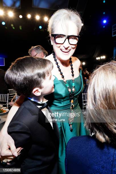 Iain Armitage and Meryl Streep attend the 26th Annual Screen ActorsGuild Awards at The Shrine Auditorium on January 19 2020 in Los Angeles California
