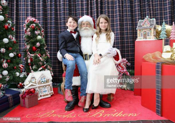 Iain Armitage and Raegan Revord attend the Brooks Brothers and St Jude Children's Research Hospital Annual Holiday Celebration at the Beverly...