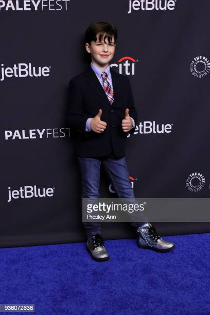 Iain Armitage attends PaleyFest Los Angeles 2018 The Big Bang Theory and Young Sheldon at Dolby Theatre on March 21 2018 in Hollywood California