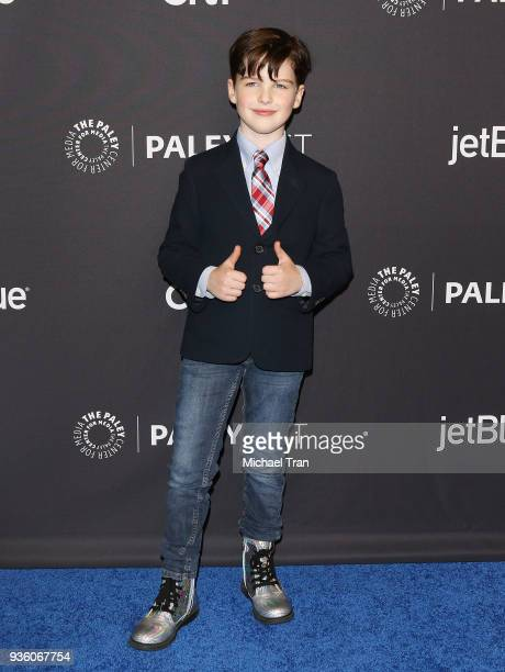 Iain Armitage attends the 2018 PaleyFest Los Angeles CBS's The Big Bang Theory and Young Sheldon held at Dolby Theatre on March 21 2018 in Hollywood...