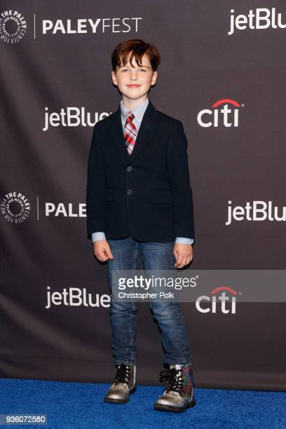 Iain Armitage attends the 2018 PaleyFest Los Angeles CBS's 'The Big Bang Theory' And 'Young Sheldon' on March 21 2018 in Hollywood California
