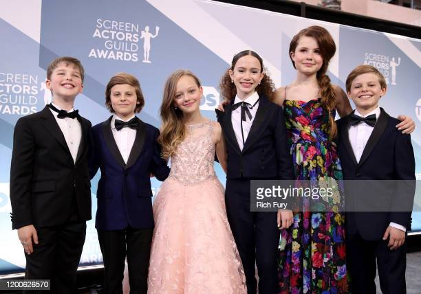Iain Armitage Cameron Crovetti Ivy George Chloe Coleman Darby Camp and Nicholas Crovetti attend the 26th Annual Screen ActorsGuild Awards at The...