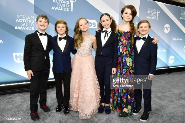 R Iain Armitage Cameron Crovetti Ivy George Chloe Coleman Darby Camp and Nicholas Crovetti attend the 26th Annual Screen ActorsGuild Awards at The...