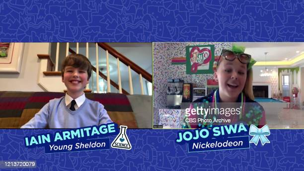 Iain Armitage from the CBS comedy YOUNG SHELDON and Jojo Siwa from NICKELODEON as seen during the ViacomCBS Upfront @Home virtual presentation on...