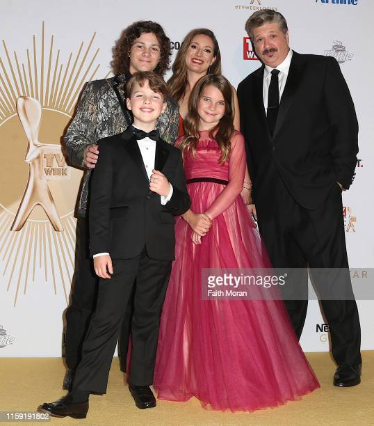 Iain Armitage Zoe Perry Montana Jordan Raegan Revord and Lance Barber arrive at the 61st Annual TV WEEK Logie Awards at The Star Gold Coast on June...