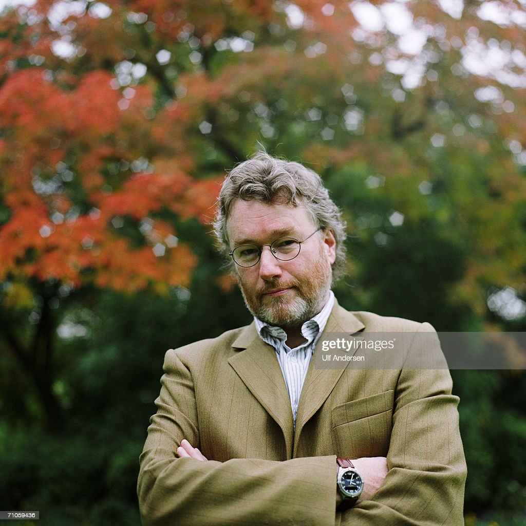 Iain Banks poses while in Paris,France to promote his book on the 25th of September 2001.