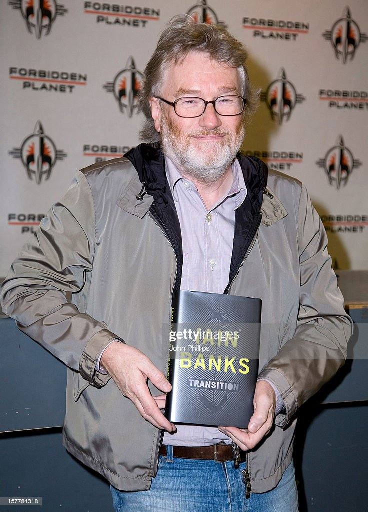 Iain Banks Signs Copies Of His Latest Sci-Fi Novel 'Transition' At Forbidden Planet Megastore In London.