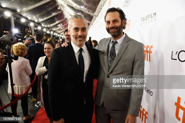 Iain Canning and Emile Sherman attend the Widows premiere during 2018 Toronto International Film Festival at Roy Thomson Hall on September 8 2018 in...