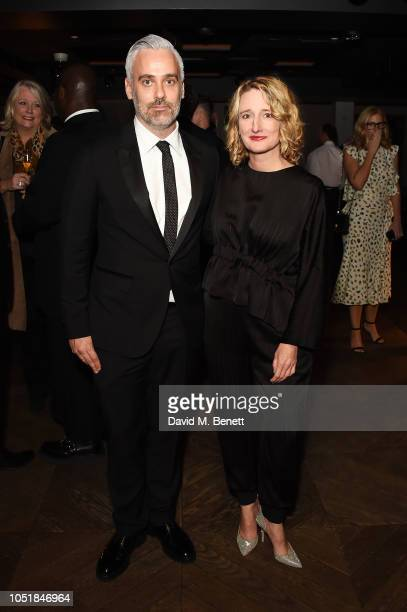 Iain Canning and Tricia Tuttle attend the 62nd BFI London Film Festival Opening Night Gala Party following the European Premiere of Widows at the BFI...