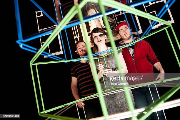 Iain Cook Lauren Mayberry and Martin Doherty of the band Chvrches pose during a portrait session at The Lighthouse on January 3 2013 in Glasgow...