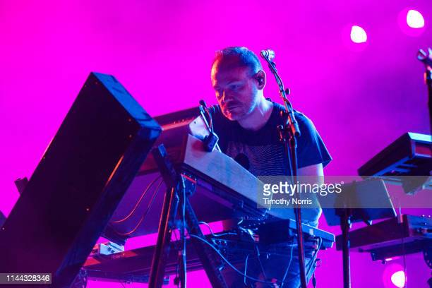 Iain Cook of Chvrches performs during the 2019 Coachella Valley Music And Arts Festival on April 21 2019 in Indio California