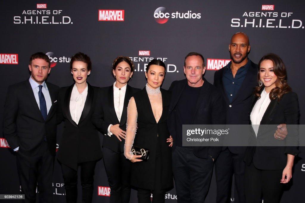 "100th Episode Celebration Of ABC's ""Marvel's Agents Of S.H.I.E.L.D."" - Arrivals"