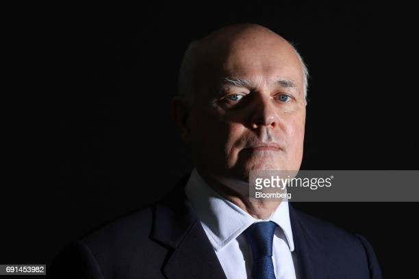 Iain Duncan Smith, former leader of the U.K. Conservative Party, poses for a photograph following a Bloomberg Television interview in London, U.K.,...