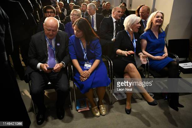 Iain Duncan Smith MP Priti Patel MP Nadine Dorries and Liz Truss MP attend the launch of the Boris Johnson Conservative Party leadership campaign at...