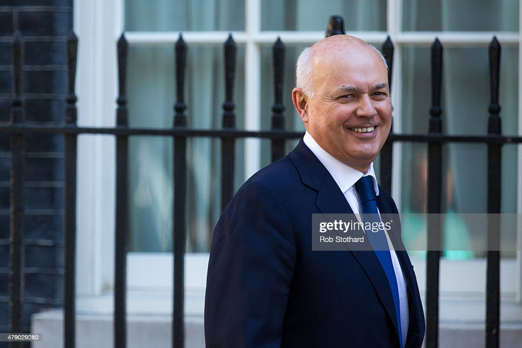 Iain Duncan Smith, Secretary of State for Work and Pensions arrives at Downing Street on June 30, 2015 in London, England. Prime Minister David Cameron will chair a meeting of Government cabinet members this morning.