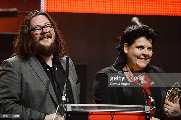 Iain Forsyth and Jane Pollard accept the Douglas Hickox award for '20000 Days On Earth' Moet British Independent Film Awards 2014 at Old Billingsgate...
