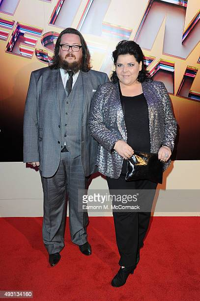 Iain Forsyth and Jane Pollard arrive at Banqueting House for the BFI London Film Festival Awards on October 17 2015 in London England