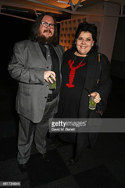 """Iain Forsyth and Jane Pollard attend the after party for """"Suffragette"""" on the opening night of the BFI London Film Festival at Old Billingsgate..."""
