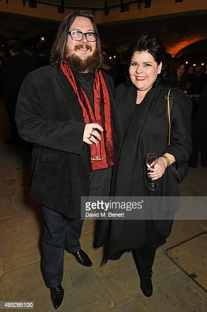 Iain Forsyth and Jane Pollard attend the BFI London Film Festival Closing Night gala party at Tobacco Dock on October 18 2015 in London England