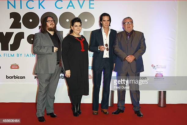 Iain Forsyth Jane Pollard Nick Cave and Ray Winstone attend the 20000 Days on Earth screening at Barbican Centre on September 17 2014 in London...