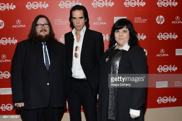 "Iain Forsyth, Nick Cave and Jane Pollard attend the ""20,000 Days On Earth"" premiere at Egyptian Theatre on January 20, 2014 in Park City, Utah."