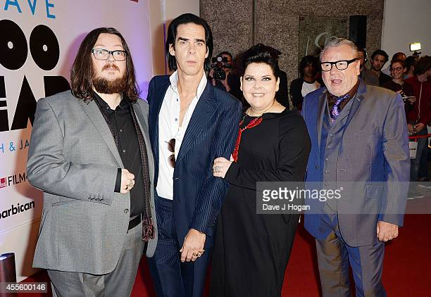 Iain Forsyth Nick Cave Jane Pollard and Ray Winstone attend the 20000 Days on Earth Gala preview screening at Barbican Centre on September 17 2014 in...