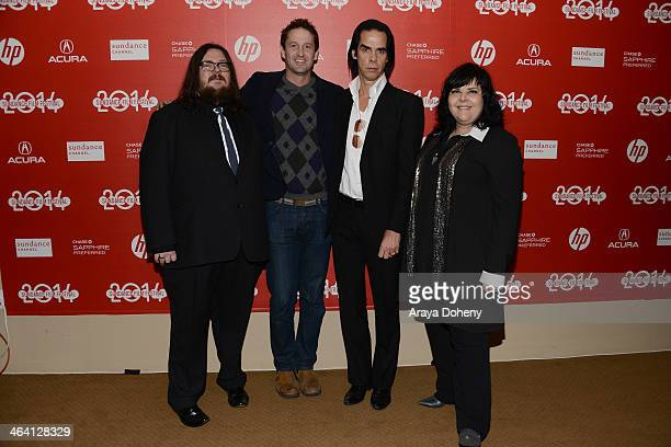 "Iain Forsyth, Trevor Groth, Nick Cave and Jane Pollard attend the ""20,000 Days On Earth"" premiere at Egyptian Theatre on January 20, 2014 in Park..."