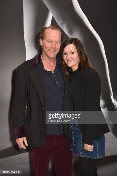 Iain Glen and Charlotte Emmerson attend a preshow drinks reception for the English National Ballet's production of Manon at St Martins Lane on...