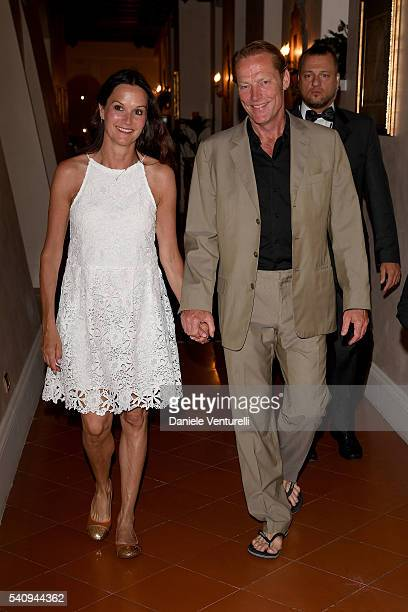 Iain Glen and Charlotte Emmerson attend Baume Mercier 62 Taormina Film Fest on June 17 2016 in Taormina Italy