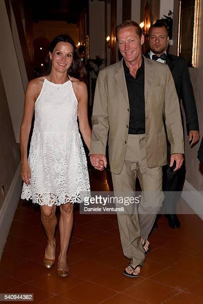 Iain Glen and Charlotte Emmerson attend Baume & Mercier - 62 Taormina Film Fest on June 17, 2016 in Taormina, Italy.