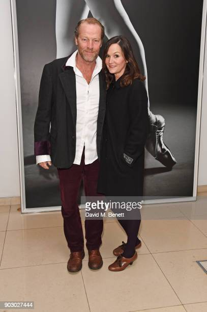 Iain Glen and Charlotte Emmerson attend the opening night drinks reception for the English National Ballet's Song Of The Earth / La Sylphide at St...