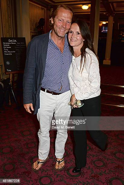Iain Glen and Charlotte Emmerson attend the press night performance of The Curious Incident Of The Dog In The NightTime at the Gielgud Theatre on...