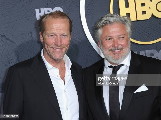 Iain Glen and Conleth Hill arrive for the HBO's Post Emmy Awards Reception held at The Plaza at the Pacific Design Center on September 22, 2019 in...
