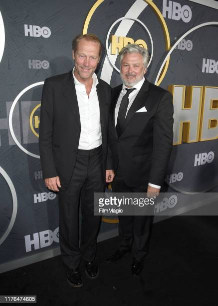 Iain Glen and Conleth Hill attend HBO's Official 2019 Emmy After Party on September 22, 2019 in Los Angeles, California.