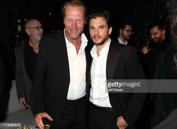 Iain Glen and Kit Harington attend HBO's Official 2019 Emmy After Party on September 22, 2019 in Los Angeles, California.