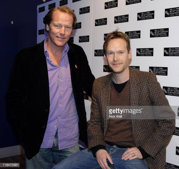 Iain Glen and Steven Mackintosh during The Times BFI London Film Festival ''Small Engine Repair'' Foyer at Odeon West End in London Great Britain