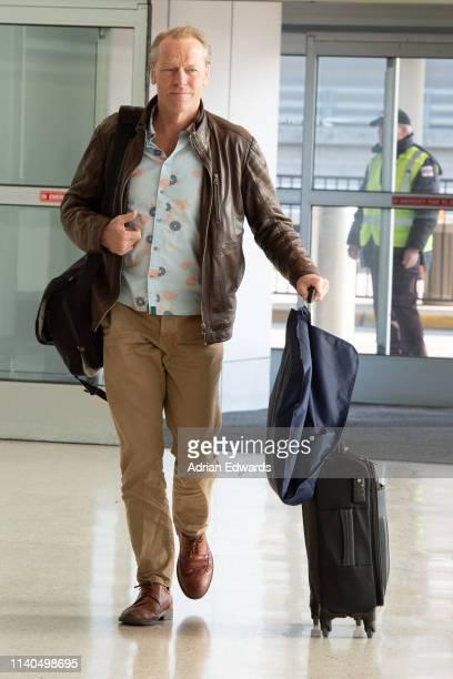 Iain Glen arrives at JFK airport on April 4, 2019 in New York City.