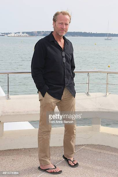 Iain Glen attends 'Cleverman' Photocall as part of MIPCOM 2015 on La Croisette on October 5, 2015 in Cannes, France.