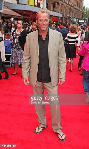 """Iain Glen attends the World Premiere of """"The Bad Education Movie"""" at Vue West End on August 20, 2015 in London, England."""