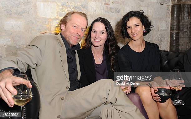 Iain Glen Charlotte Emmerson and Indira Varma attends an after party celebrating the Season 4 premiere of Game of Thrones at The Guildhall on March...